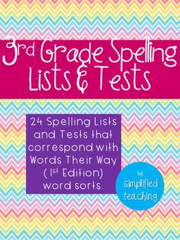 3rd Grade Spelling Lists {Simplified Teaching}