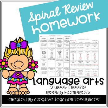 3rd Grade Spiral Review Homework- Language Arts-August Sep