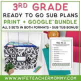 3rd Grade Sub Plans Ready To Go for Substitute. ONE FULL WEEK!