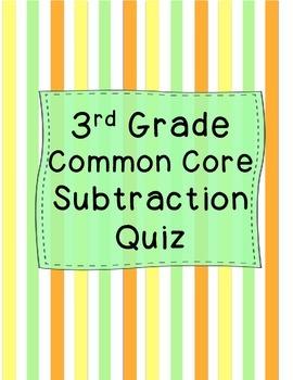 3rd Grade Subtraction Quiz
