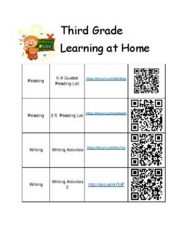 3rd Grade Summer Learning Activities