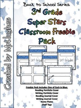 3rd Grade Super Stars Classroom Freebie Pack