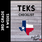 3rd Grade TEKS Checklist (9 Weeks Checks)