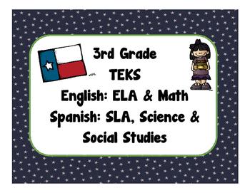 3rd Grade TEKS Checklist - Bilingual