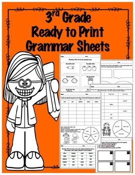3rd Grade Test Prep Grammar Printables- Fun, Engaging Acti