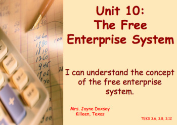3rd Grade Texas SS Free Enterprise System (Unit 10)