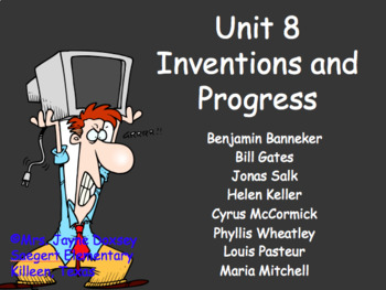 3rd Grade Texas SS Inventions and Progress Unit 8