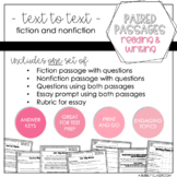3rd Grade Text to Text Set #2 {Paired Passages}