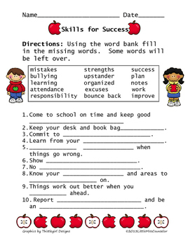 Skills for Success Worksheet