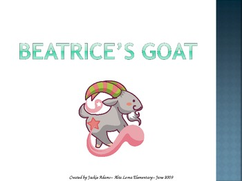 """3rd Grade Treasures """"Beatrice's Goat"""" Introductory PowerPoint"""