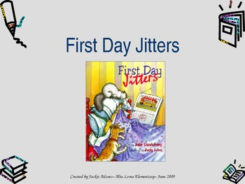 """3rd Grade Treasures """"First Day Jitters"""" Introdutory PowerPoint"""
