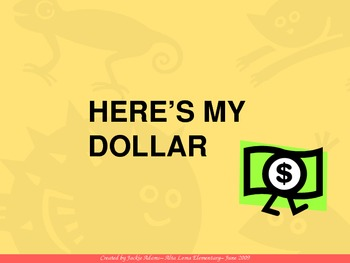 "3rd Grade Treasures ""Here's My Dollar"" Introductory PowerPoint"