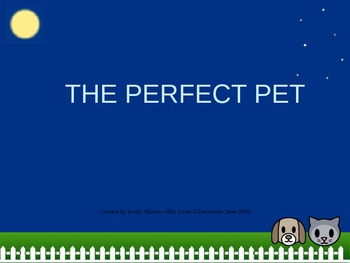 """3rd Grade Treasures """"The Perfect Pet"""" Introductory PowerPoint"""