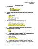 3rd Grade Treasures Unit I Comprehension Questions (5 main