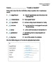 3rd Grade Treasures Unit IV Vocabulary Lists and Tests (5