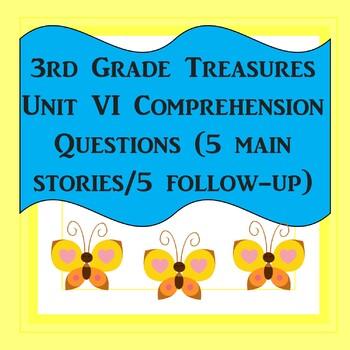 3rd Grade Treasures Unit VI Comprehension Questions (5 mai