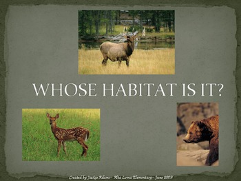 "3rd Grade Treasures ""Whose Habitat Is It?"" Introductory Po"