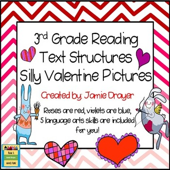 3rd Grade Silly Valentine Images: Reading and Language Art