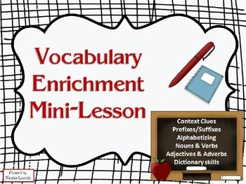 3rd Grade Vocabulary Enrichment Mini-Lesson
