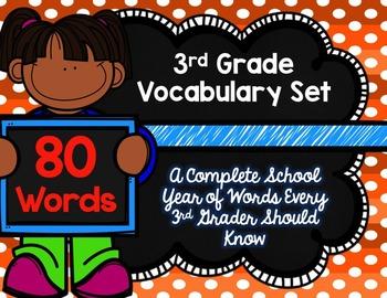 3rd Grade Vocabulary Set (Orange Soda paper)
