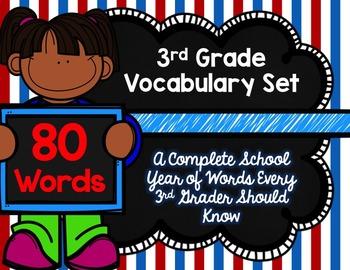 3rd Grade Vocabulary Set (Patriotic paper)