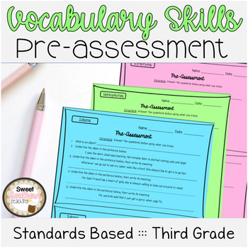 3rd Grade Vocabulary Skills Pre-Assessments