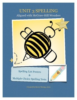 3rd Grade Wonders Unit 3 Spelling List and Test