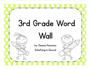 3rd Grade Word Wall Words & Activities