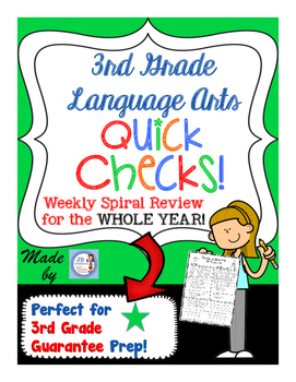3rd Grade Yearlong LA Spiral Quick Check Set for 3rd Grade