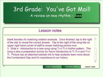 3rd Grade:  You've Got Mail! - (A Ti-ri-ti-ri Song Match)