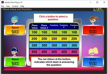 3rd Jeopardy Module 2 –Fractions, Number and Operations –