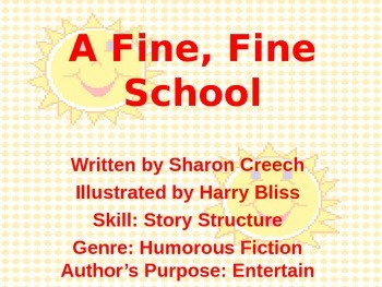 3rd L-1 A Fine, Fine, School Vocabulary/Spelling/Comprehen