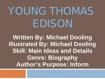 3rd L-10 Young Thomas Edison Vocabulary/Spelling/Comprehen