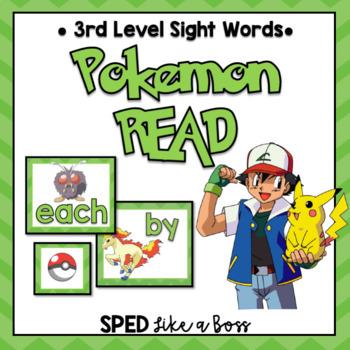 3rd Level Sight Words Pokemon READ!