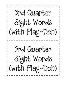 3rd Quarter Sight Word Mats (for Play-Doh)