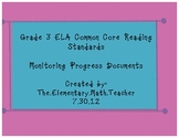 3rd grade Reading Common Core Progress Monitoring Documents