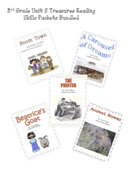 3rd grade Treasures Reading Bundled-Unit 5