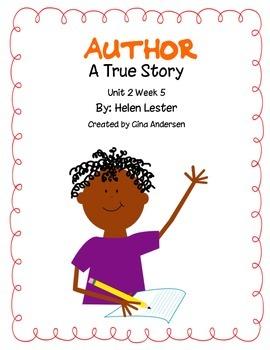"3rd grade Treasures Reading Unit 2 Week 5 ""Author"""
