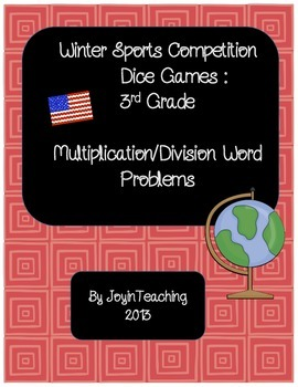 3rd grade: Winter Sports Dice Games: Multiplication Divisi