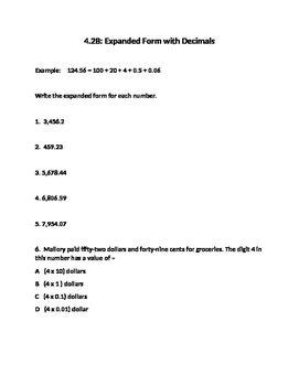 4.2B Expanded Form with Decimals