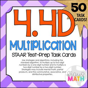 4.4D: Multiplying by 1-Digit Numbers STAAR Test-Prep Task