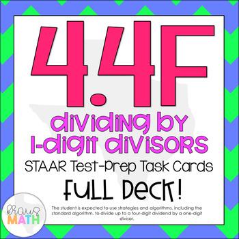 4.4F: Division With 1-Digit Divisors STAAR Test-Prep Task