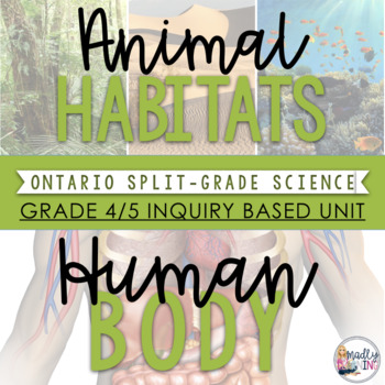 (4/5) Habitats and Human Body - Inquiry Unit & *Bonus* Hab