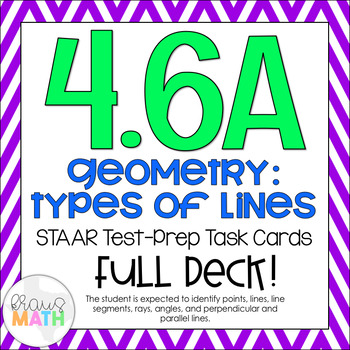 4.6A: Geometry (Types of Lines) STAAR Test-Prep Task Cards