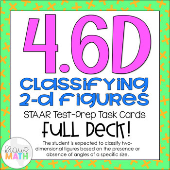 4.6D: Classifying 2D Polygons STAAR Test-Prep Task Cards (