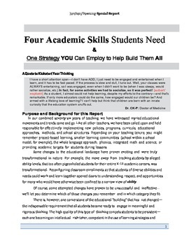 4 Academic Skills Students Need & One Strategy YOU Can Emp