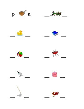 #4 Alphabet Write Beginning and Ending Consonants Pictures