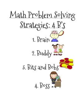 4 B's Math Strategies