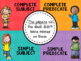 4 Corners Simple vs. Complete Subject and Predicate