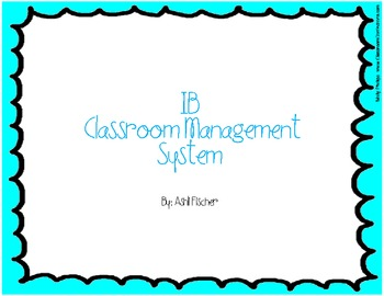 4 Cs Poster: IB Classroom Management System